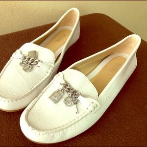 Michael Kors white loafers 7.5